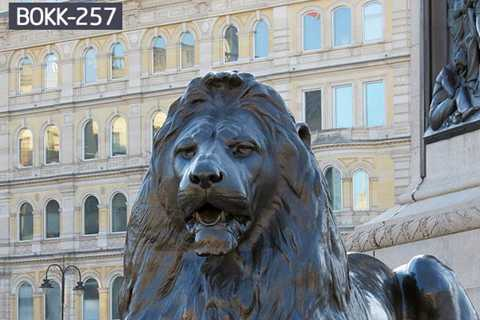 Hot Sale Classic Cast Bronze Lion Sculpture for Outdoor Decor BOKK-257