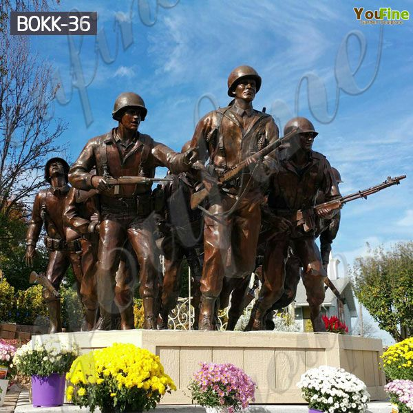 Customized Bronze Memorial War Soldier Statue Design Supplier BOKK-36