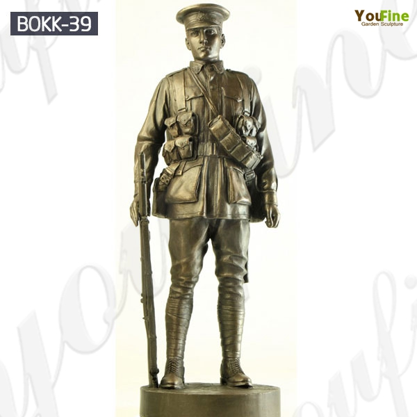 Customized Memorial Soldier Outdoor Standing Bronze Statue for Sale BOKK-39