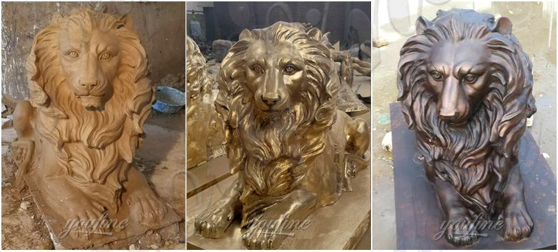 Garden Decoration Casting Bronze Animal Lion Statue Supplier
