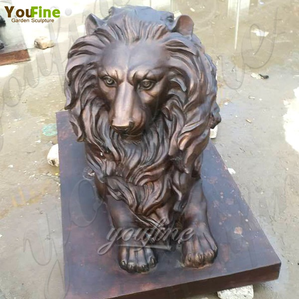 Life Size Garden Decoration Casting Bronze Animal Lion Statue