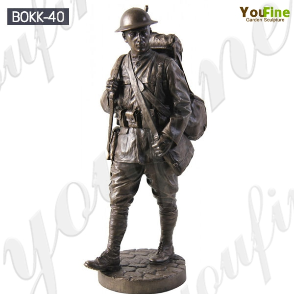 Life Size Memorial Soldier Outdoor Standing Bronze Statue for Sale BOKK-40