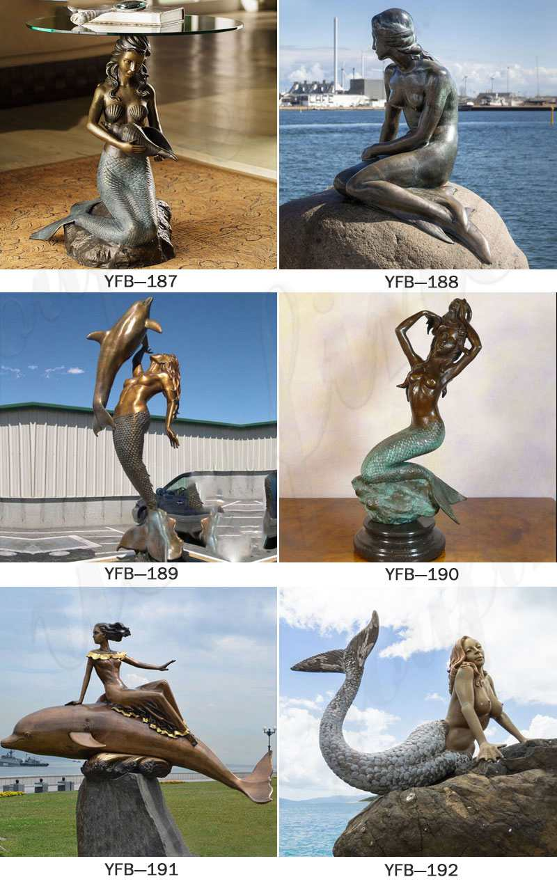 Life Size Outdoor Bronze Mermaid Statue