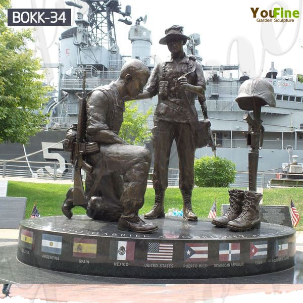 Memorable Outdoor Bronze Military Man Soldiers Sculpture for Sale
