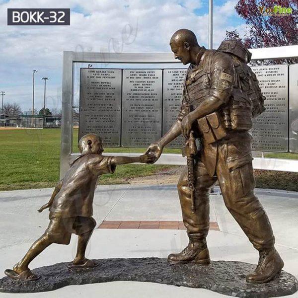 Where to Buy Bronze Memorial Sgt. Dan Brown Soldier