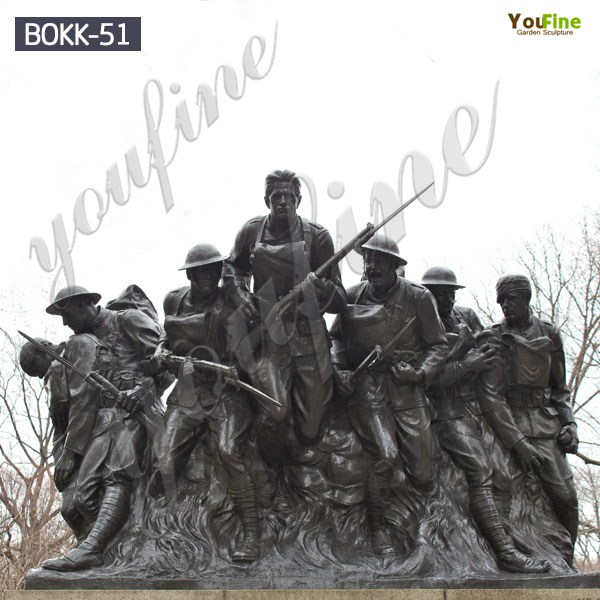 Life Size 107th Infantry Monument Soldier Outdoor Bronze Statue for Sale BOKK-51