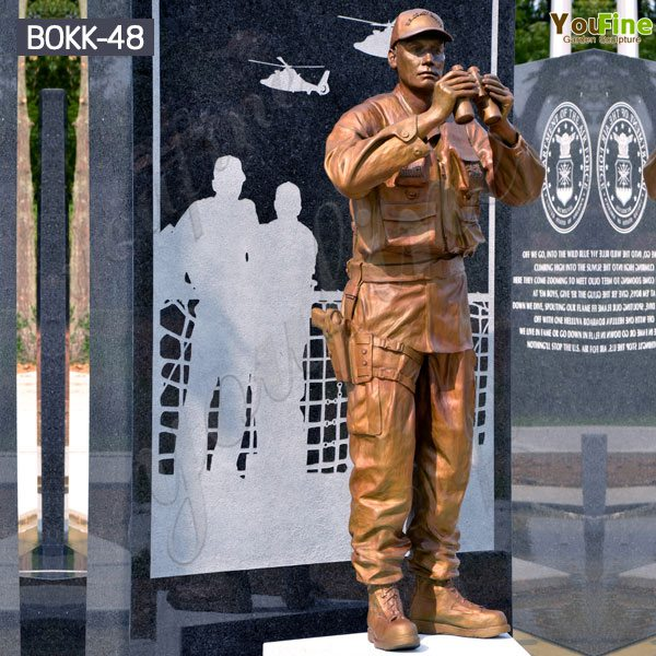 Memorial Soldier Outdoor Standing Bronze Statue monument for