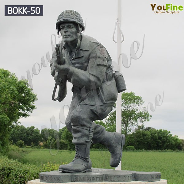 Military Bend Man Soldiers Sculpture Factory Supplier BOKK-50