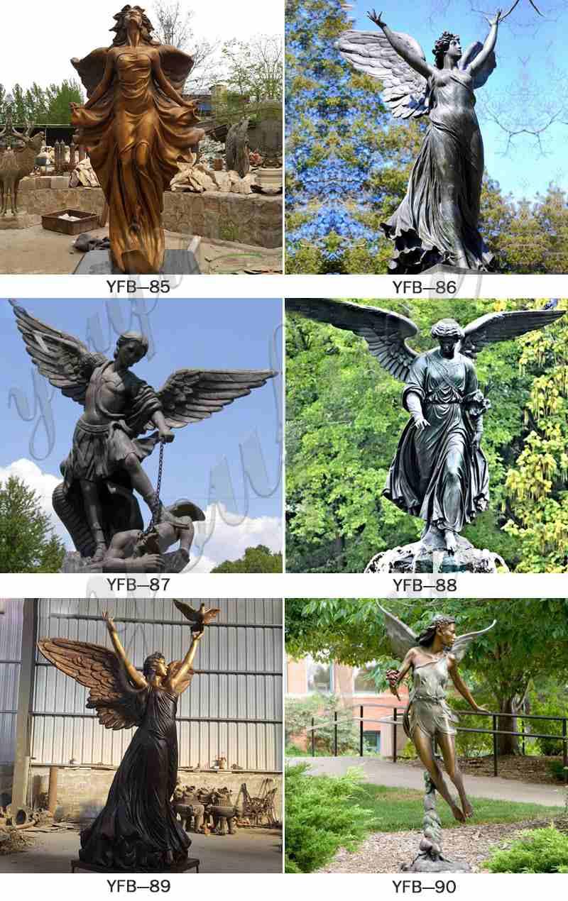 Life Size Bronze Archangel Michael Slaying the Devil