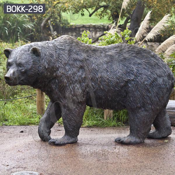 Outdoor Casting Bronze Bear Statue China Supplier BOKK-298