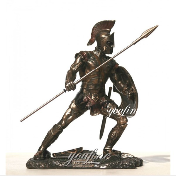 Customized Military Trojan War Bronze Solider Statue Sale BOKK-480