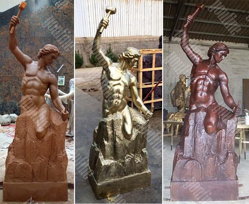 custom bronze self made man statue replica famous casting bronze figure statue for sale