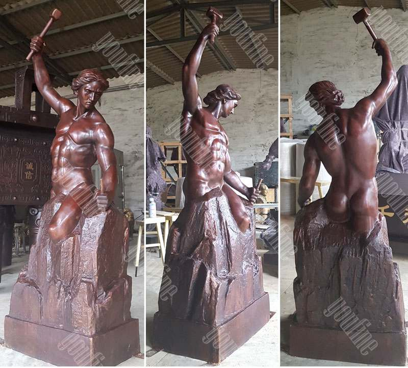 custom bronze self made man statue replica famous casting bronze statue for sale