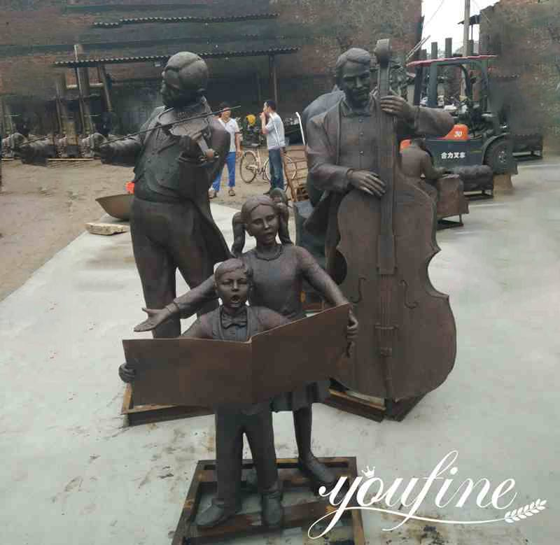 Life Size Bronze Musician Statue Group for Sale BOKK-180