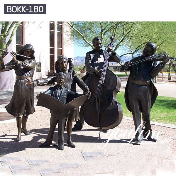 Life Size Bronze Musician Statue Group for Sale