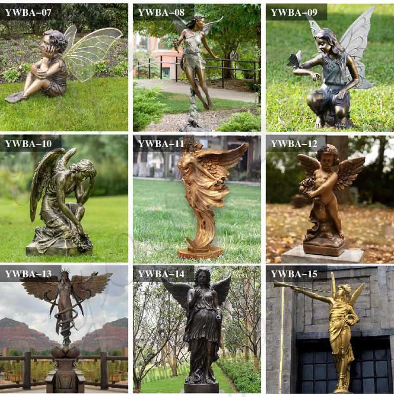 Angel Sculpture Kneeling Angel for Sale MOKK-821