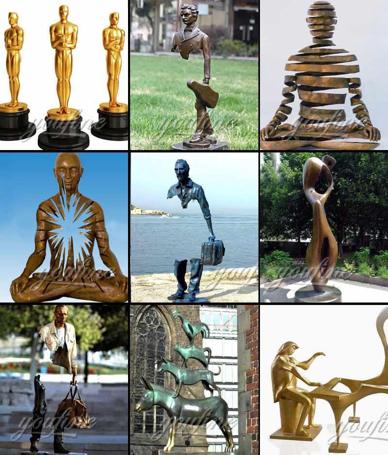 Modern Bronze Sculpture Garden